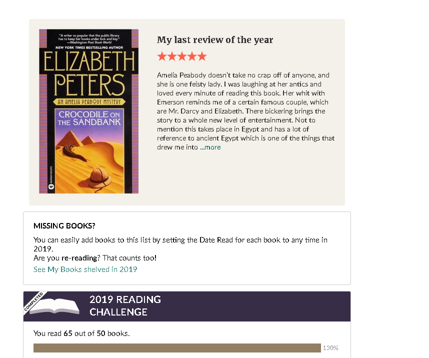 2019 Goodreads Year in Books 4