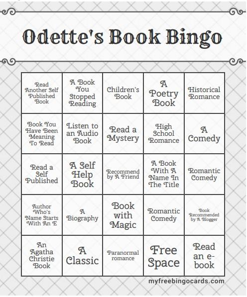 Odette's Book Bingo